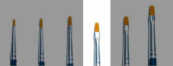 Italeri Synthetic Flat Brush 1