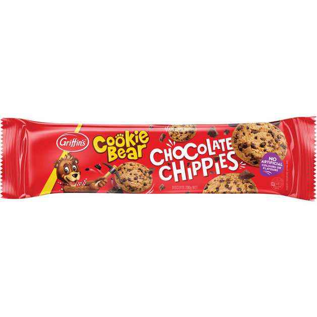 Griffins Cookie Bear Chocolate Chippies (200g x 24)