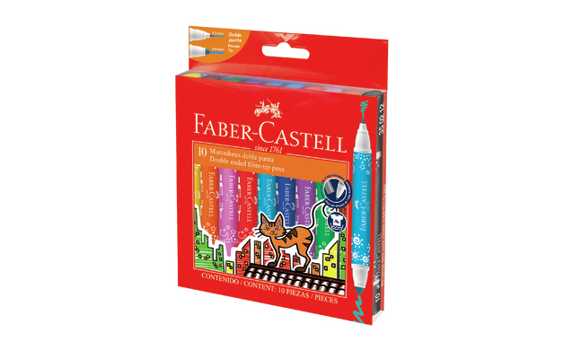 Faber-Castell: Double Ended Fibre Tip Markers - Wallet of 10