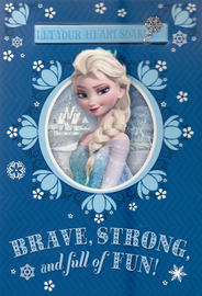 Hallmark: Interactive Birthday Card - Frozen Elsa Charm