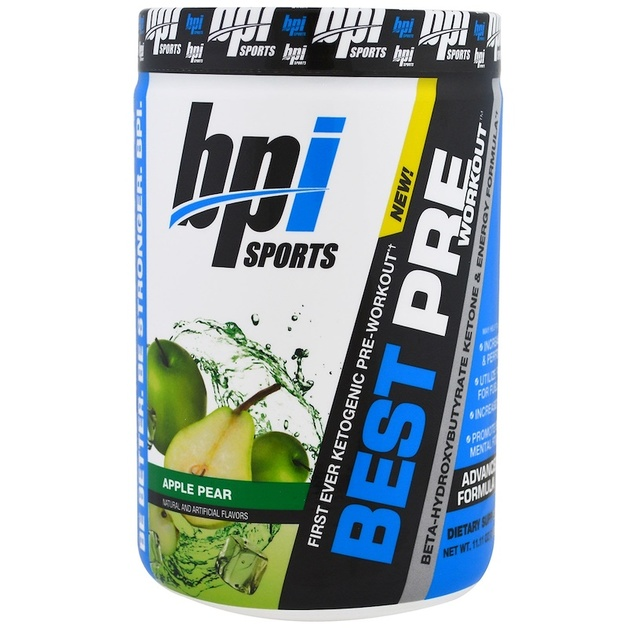 BPI Sports Keto Best Pre-Workout - Apple Pear (30 Serve)