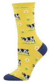 Socksmith: Women's Legendairy Crew Socks - Yellow