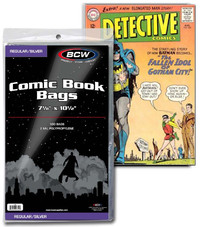 BCW: Comic Book Bags - (Silver/Regular)