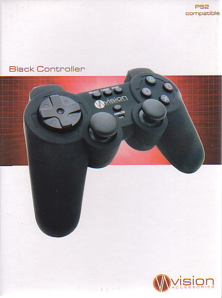 Vision PS2 Controller (Black) for PlayStation 2
