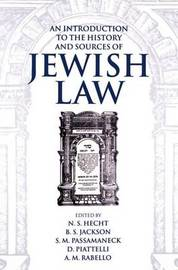 An Introduction to the History and Sources of Jewish Law image