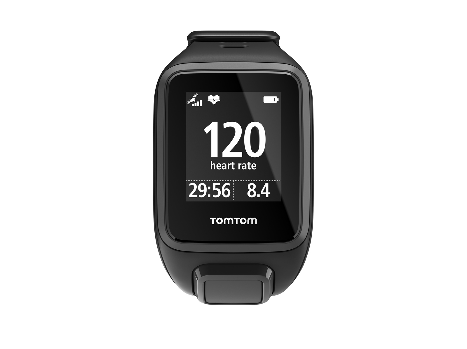 TomTom Spark + Cardio GPS Fitness Watch - Black (Small)