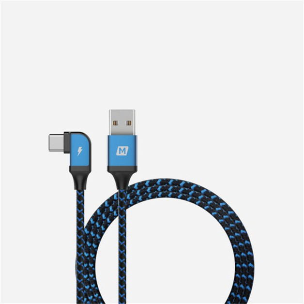 Momax: GO link 1.2M Type C to USB L-Shape Mobile Gaming Cable - Blue