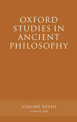 Oxford Studies in Ancient Philosophy XXVIII
