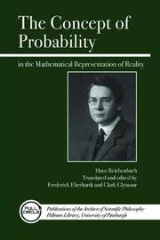 The Concept of Probability in the Mathematical Representation of Reality by Hans Reichenbach image
