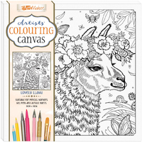 Artists' Colouring Canvas - Lovely Lhama