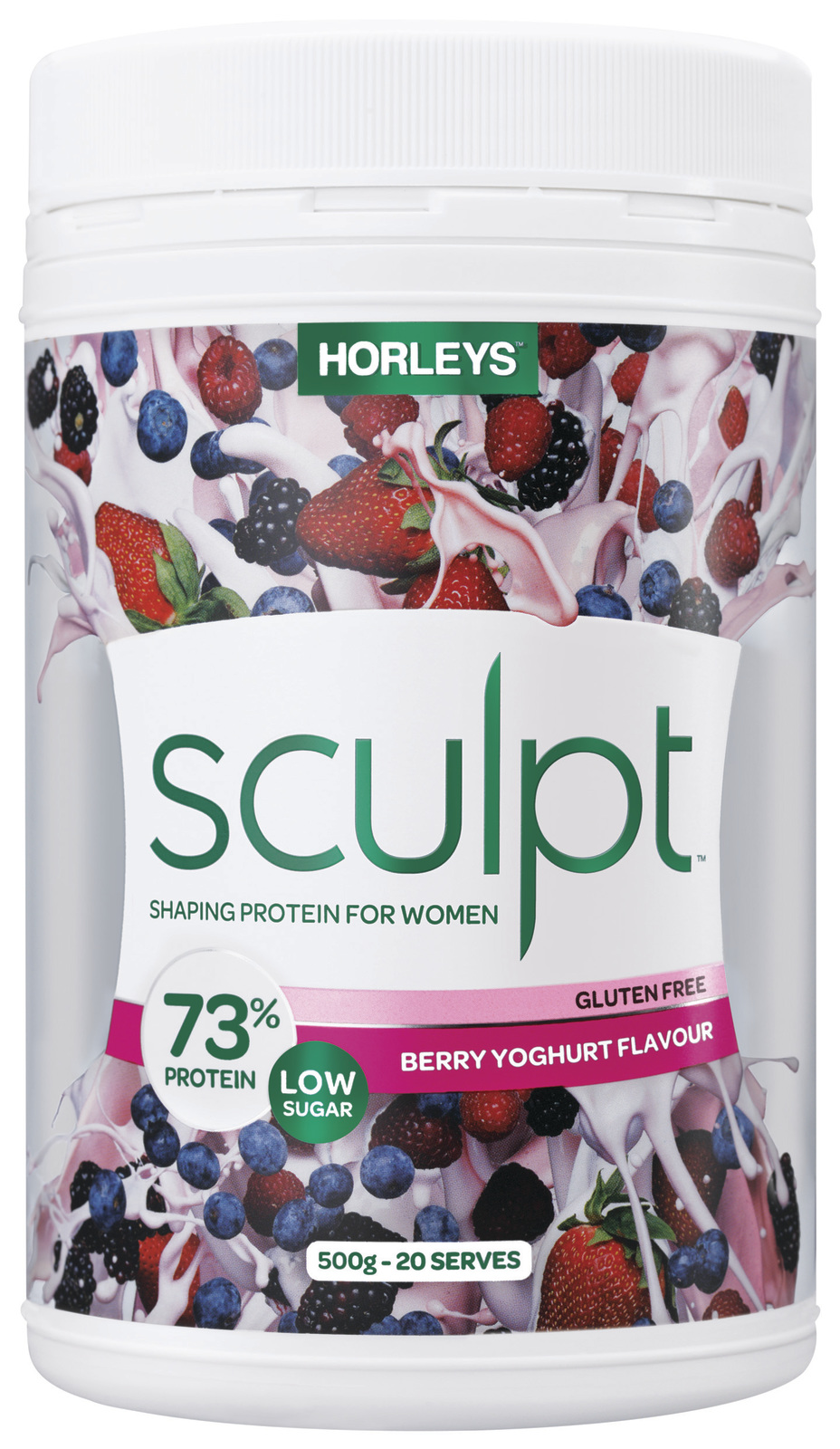 Horleys Sculpt Protein Powder - Summer Berries (500g) image