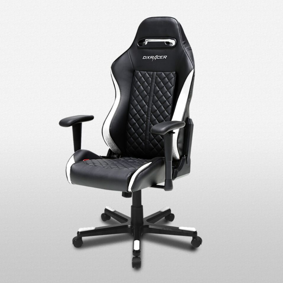 DXRacer Drifting Series DF73 Gaming Chair (Black and White) for  image