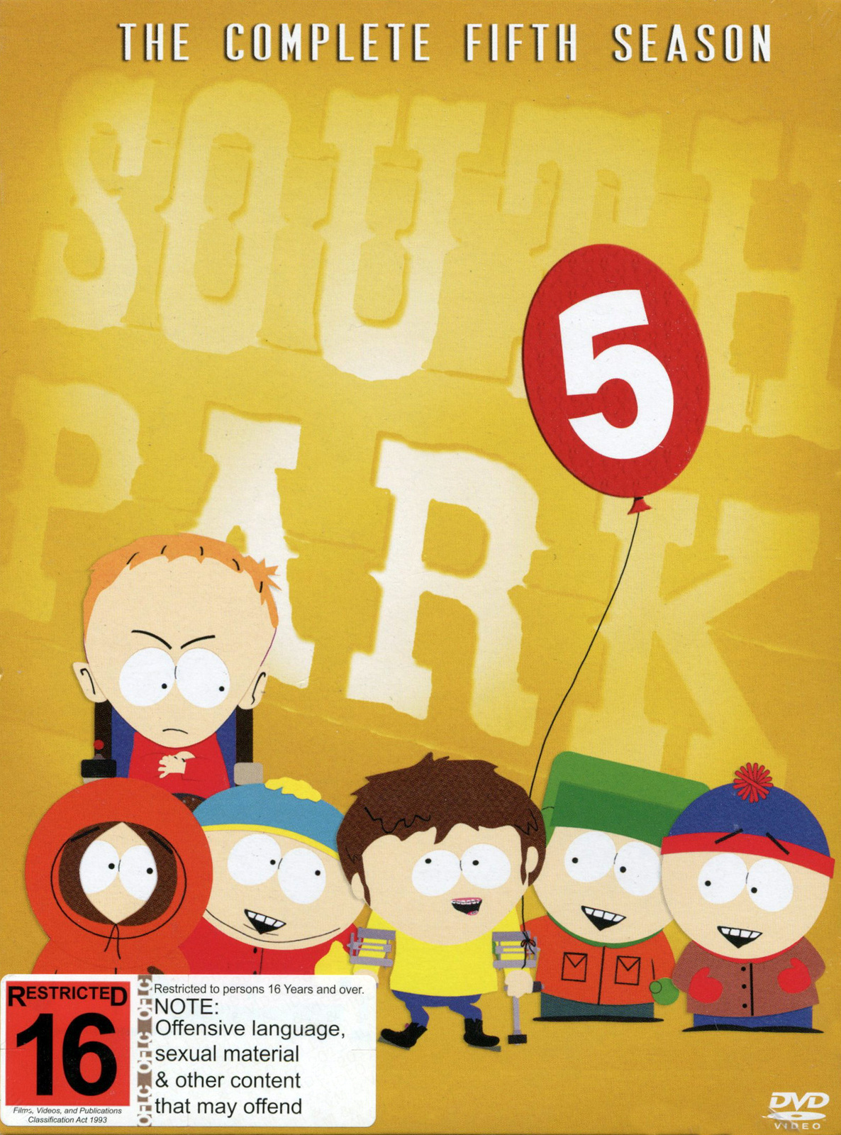 South Park - The Complete 5th Season (3 Disc Box Set) on DVD image