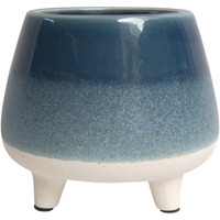 Planter with Legs - Blue (13cm)