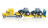 Siku: Truck with New Holland Tractors