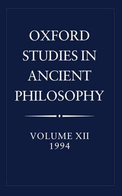 Oxford Studies in Ancient Philosophy: Volume XII image