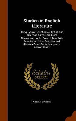 Studies in English Literature by William Swinton image