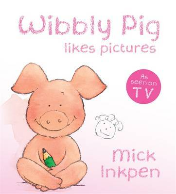 Wibbly Pig Makes Pictures Board Book by Mick Inkpen image