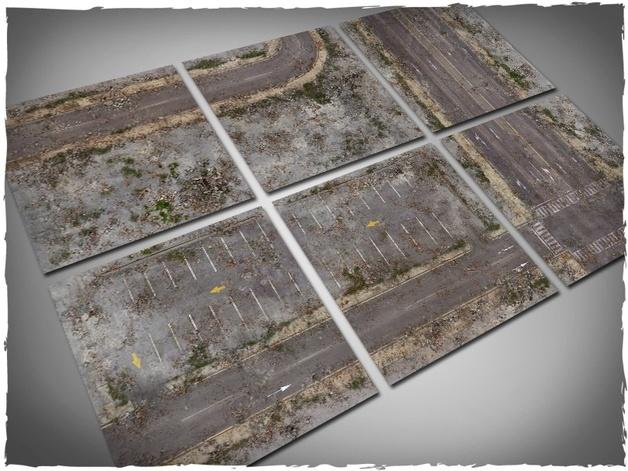 DeepCut Studio Walking Dead City Tiles (6pcs 2x2)