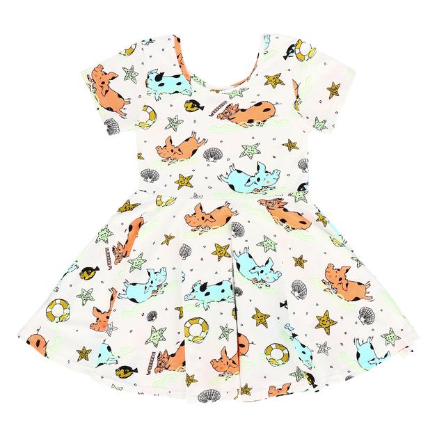 Raspberry Republic: Dress Piggy Paradise (Size 7)