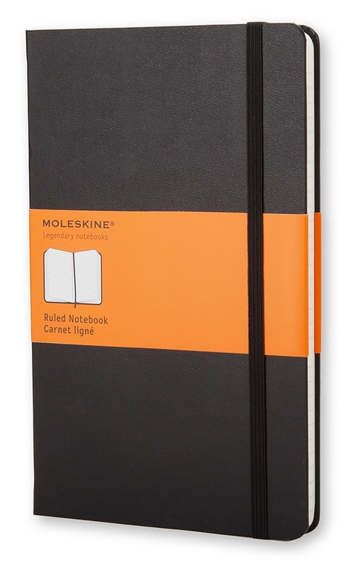 Moleskine: Classic Large Hard Cover Notebook Ruled - Black