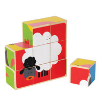 Hape: Farm Animals Wooden Block Puzzle