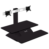 Officeport Electric Standesk - Single Monitor (Black)