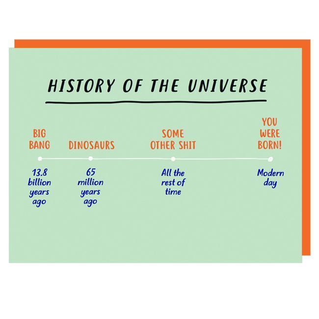 Graph: You Were Born Birthday Card image
