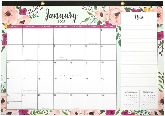Peter Pauper Press: Desk Pad Calendar 2021 - Floral