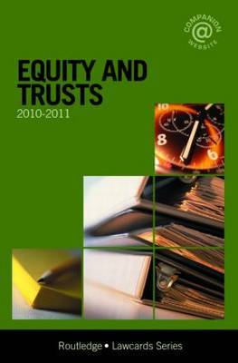 Equity and Trusts Lawcards: 2010-2011 image