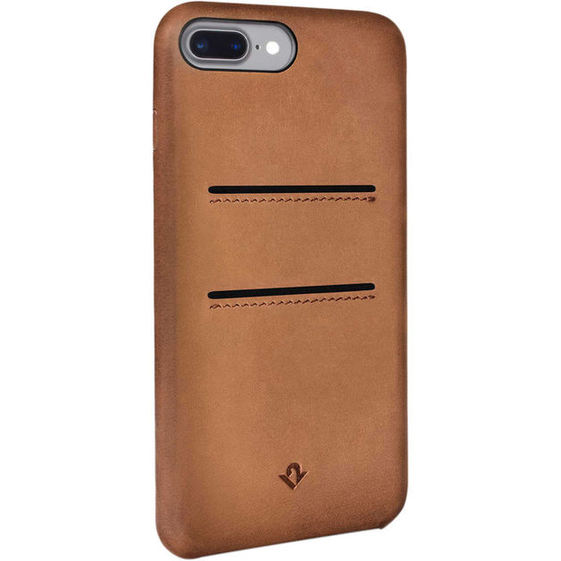 Twelve South Relaxed Leather case w/pockets for iPhone 7 Plus (Cognac)