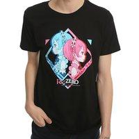 Re:Zero: Rem/Ram - Mens T-Shirt (Large)