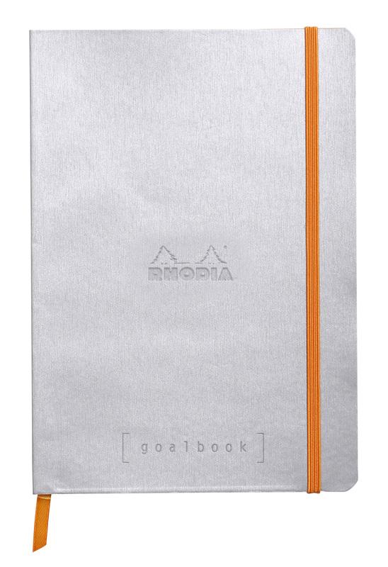 Rhodiarama A5 Goalbook Dot Grid - Silver