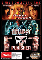Ghost Rider (2007) / Hellboy / Punisher - 3 Movie Collector's Pack (3 Disc Set) on DVD