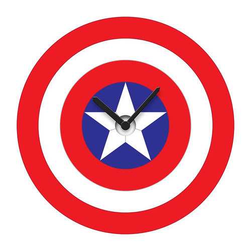 Captain America's Shield - Wobble Wall Clock image