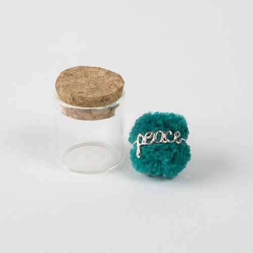 Natural Life: Wire Ring - Peace Turquoise
