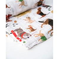 Little Unicorn - Single Cotton Muslin Swaddle - Woof image