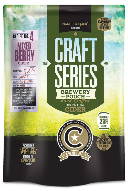 Mangrove Jack's: Craft Series - Mixed Berry Cider Pouch (2.4kg)
