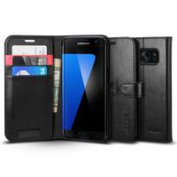 Spigen Galaxy S7 Edge Wallet Case - Black