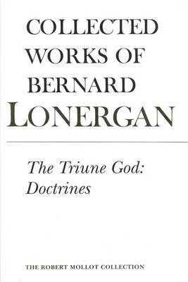 The Triune God by Bernard Lonergan image