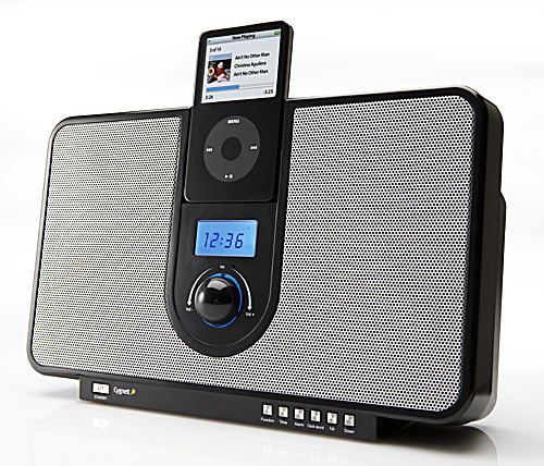 Cygnett GROOVETIME BLACK - IPOD ALARM CLOCK SPEAKERS