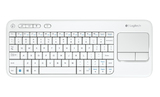 Logitech K400R Wireless Keyboard with Touch Pad (White)