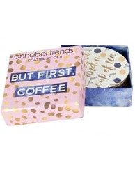 Annabel Trends Coaster Set - But First, Coffee (Set of 8)