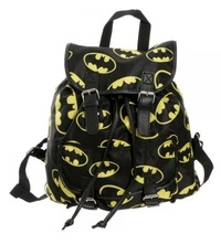 Batman: Toss Print - Black Strap Backpack