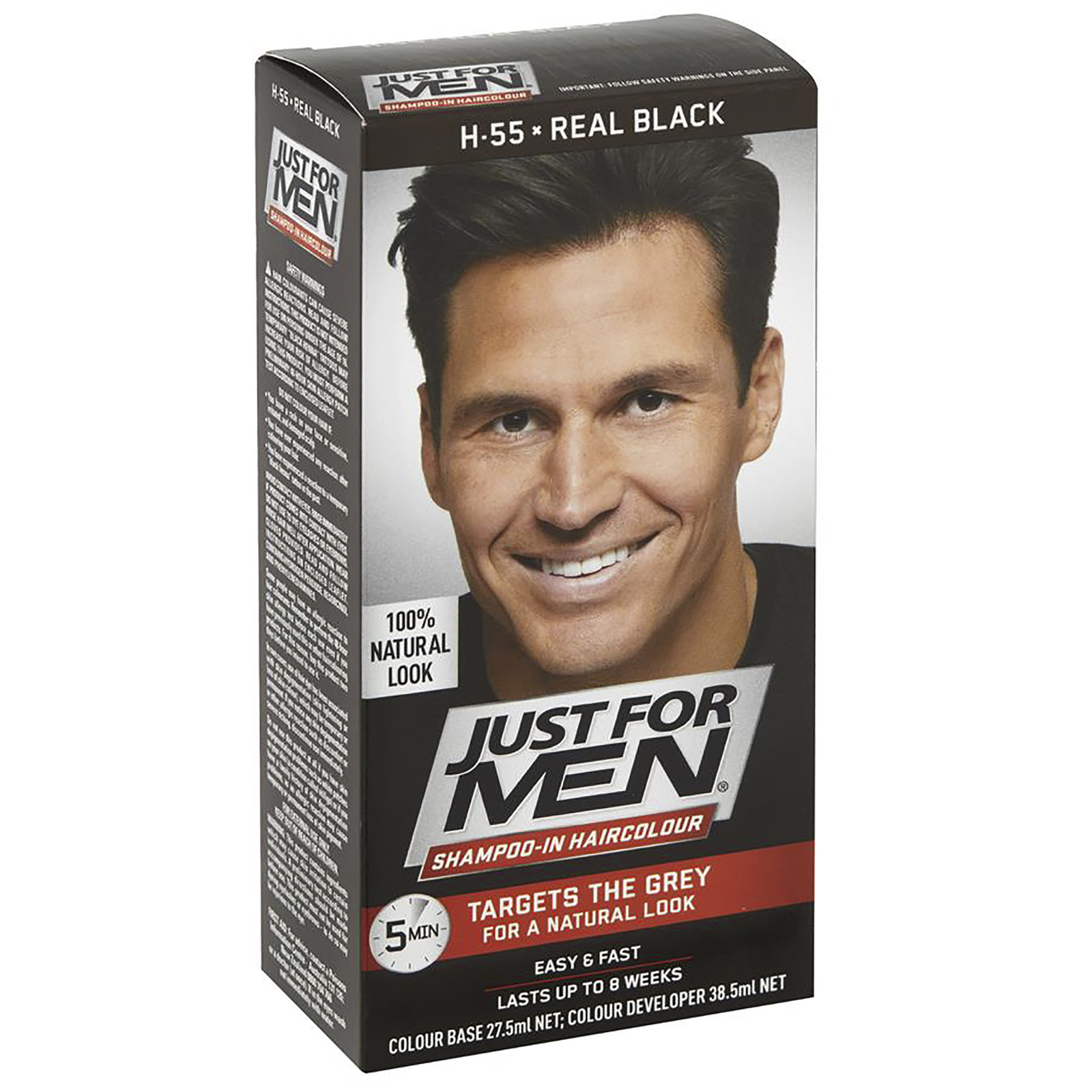 Just For Men Shampoo-In Hair Colour - Real Black image