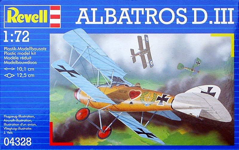 Revell Albatross D III 1:72 Model Kit image