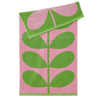 Orla Kiely Luxury Beach Towel - Lilac Pink Stem