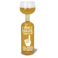 BigMouth Wine Bottle Glass (Time For One)