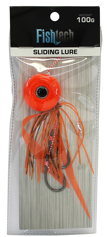 Fishtech 100g Slippery Slider Lure - Orange