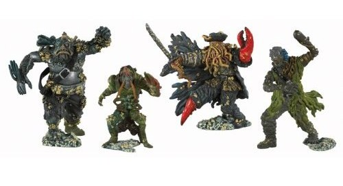 Pirates of the Caribbean - Pirate Captain and Crew Figures (4 Pack) image